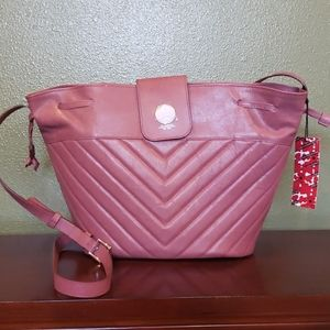 Carmel Lorensided Quilted Drawstring Tote